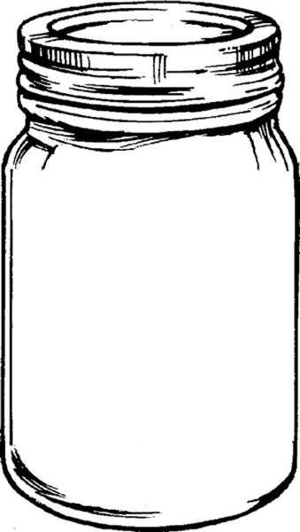 clip black and white Free mason tempplates an. Jar clipart.