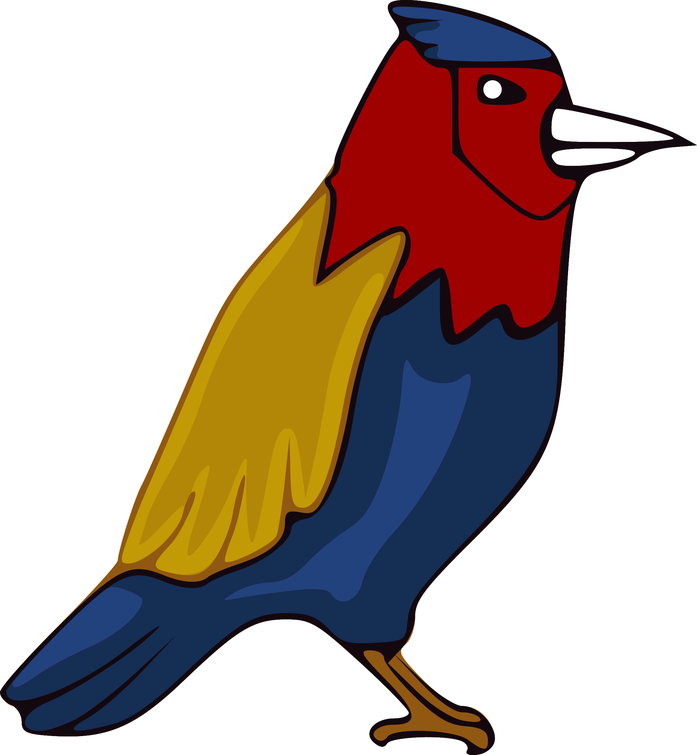 graphic transparent Jay clipart. Colourful big image png.