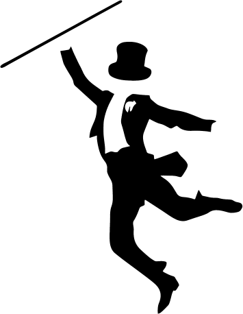 picture black and white library Dancer silhouette clip art. Jazz clipart.