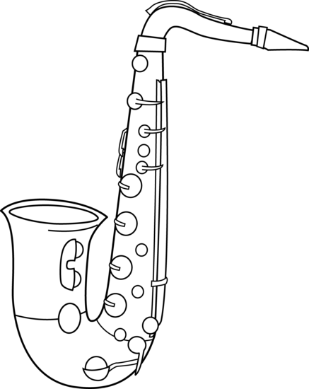 image Saxophone clipart black and white. Clip art music for