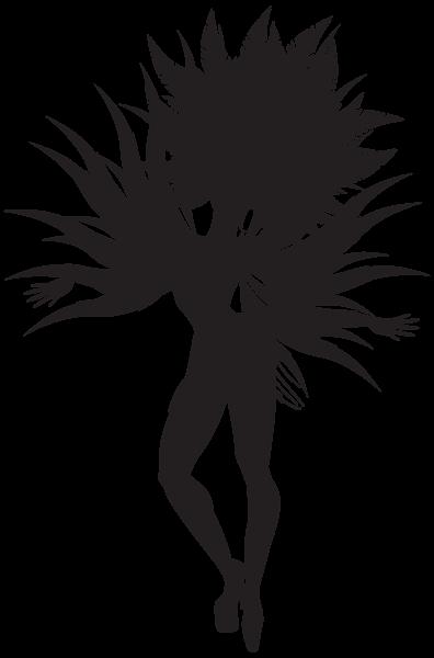vector freeuse Samba Dancer Silhouette PNG Clip Art Image