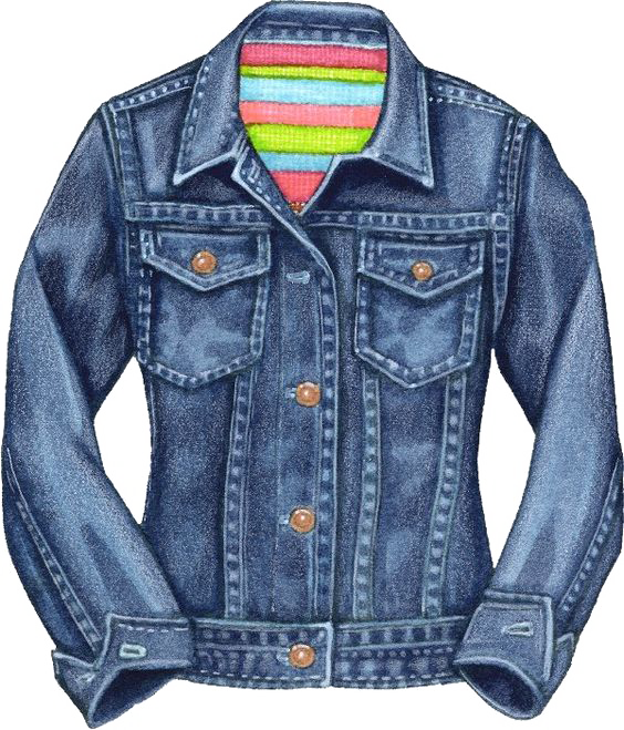 png library library Jeans clipart. Denim jacket clip art.
