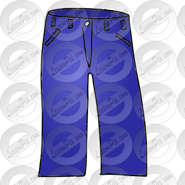 clip art stock Jeans clipart. Picture for classroom therapy.