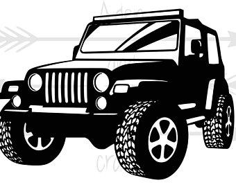svg Jeep clipart. Clip art etsy .