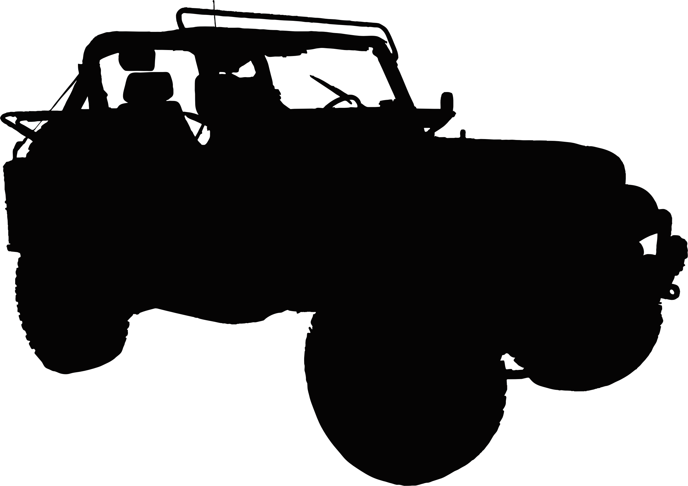 free Army jeep clipart. Silhouette big image png.