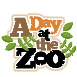 clip art freeuse library Zoo clipart zoo word. A day at the