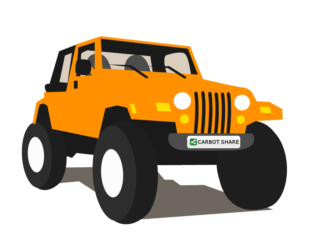 clipart freeuse library Car and in color. Jeep clipart pencil.
