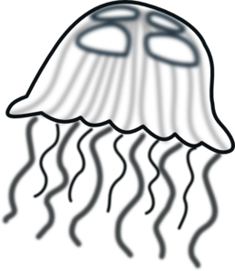 freeuse Jelly clipart jellyfish. Fish clip art black