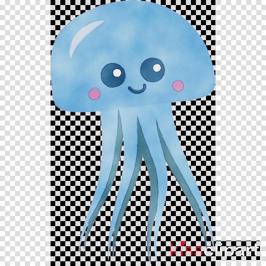 jpg stock Octopus marine invertebrates aqua. Jellyfish clipart cnidarians.