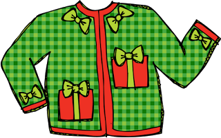 banner royalty free stock Drawing sweaters christmas. Cardigan clipart panda free