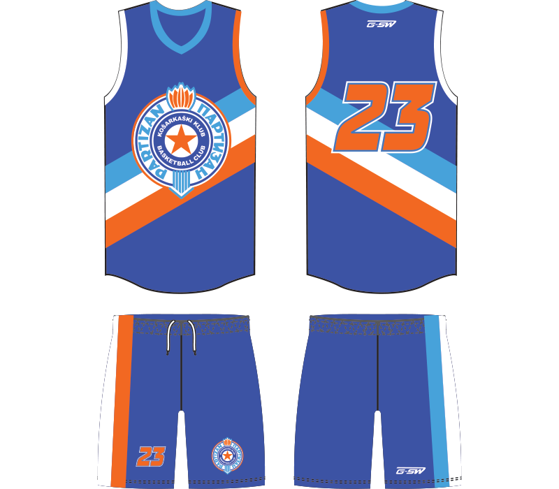 vector free stock Sublimated Full Basketball Uniform