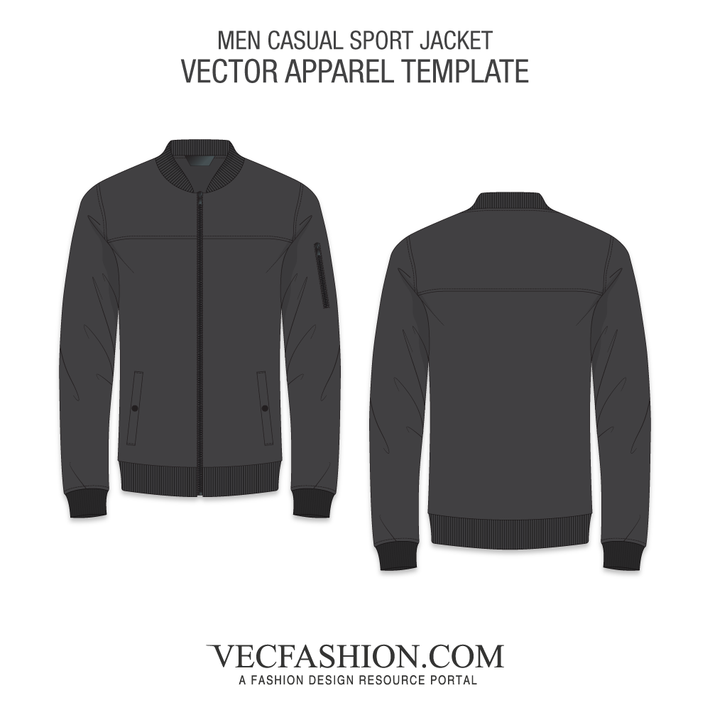 graphic free stock Apparel templates fashion design. Vector clothing bomber jacket