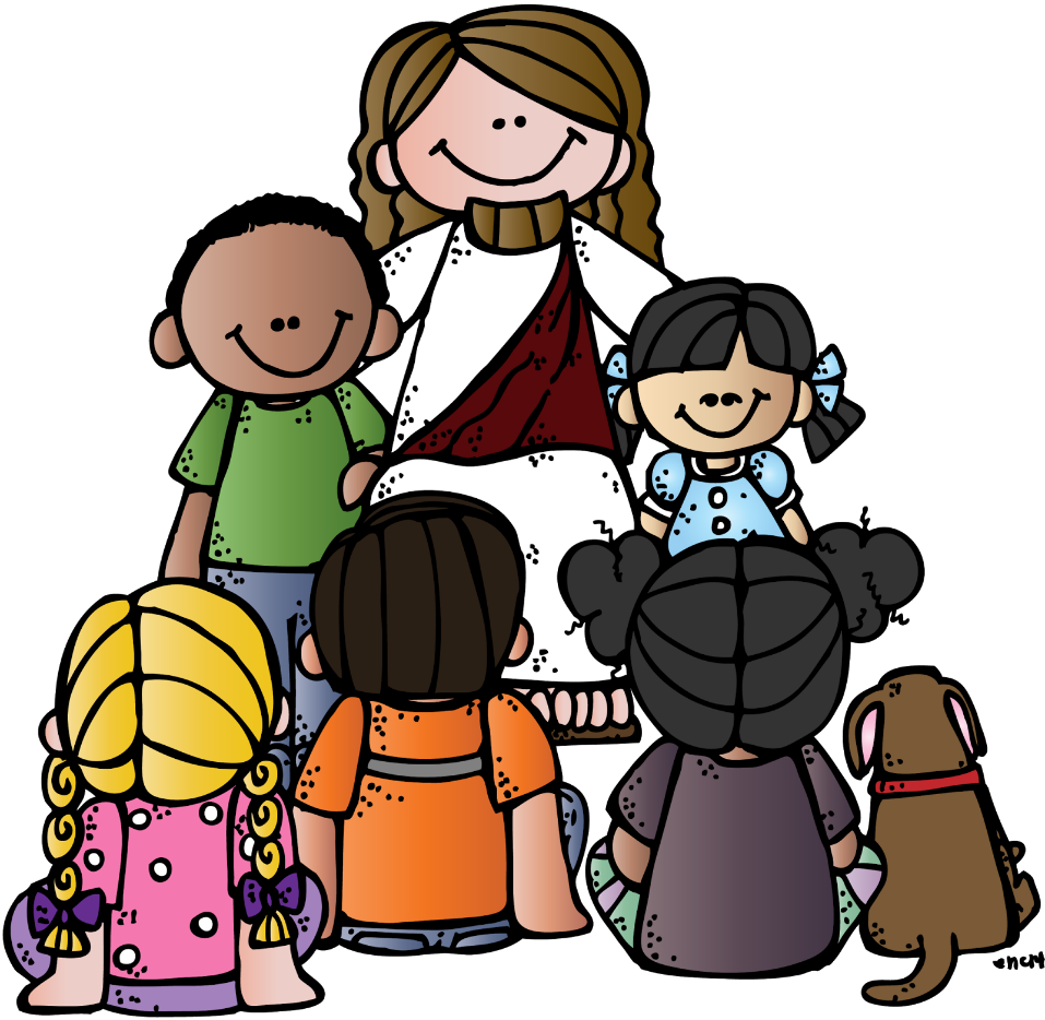 graphic library download Jesus teaching clipart. And the children at