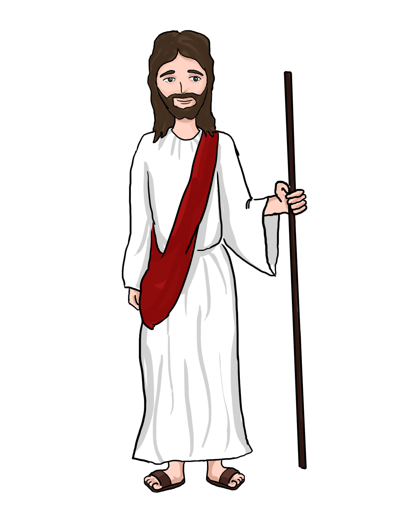 clip art royalty free library Cartoon . Jesus clipart