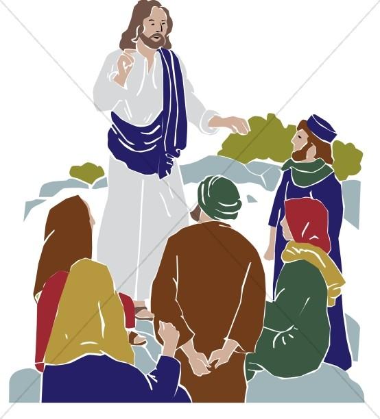 picture transparent Followers . Jesus teaching clipart