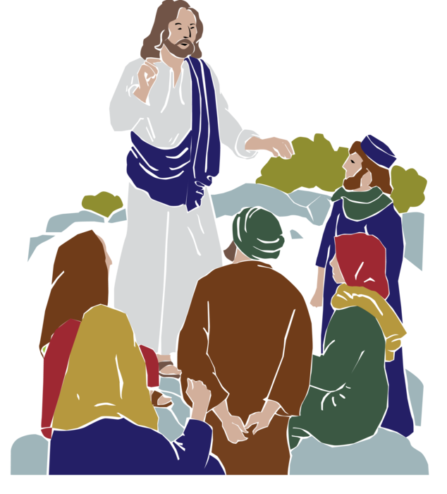 png free Pray the beatitudes st. Jesus teaching clipart