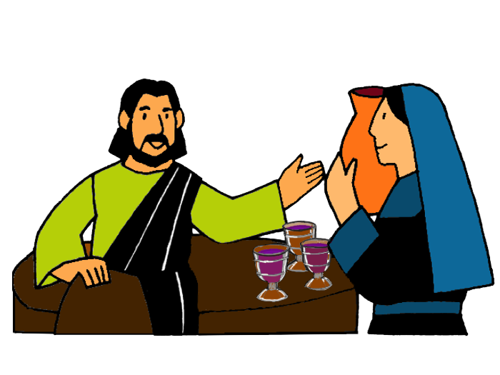 clipart freeuse Jesus teaching clipart. Turns water into wine