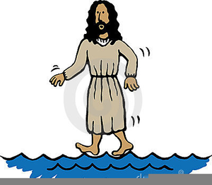 banner freeuse library Jesus walking on water clipart. Free of images at