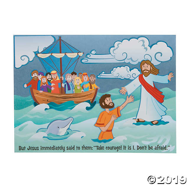 image download Jesus walking on water clipart. Peter walk mini sticker