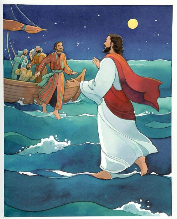 picture Pin ch . Jesus walking on water clipart
