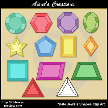 image royalty free download Shapes jewels clip art. Jewel clipart pirate