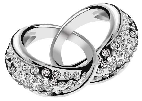 jpg free stock Silver rings with diamonds. Vector color ring
