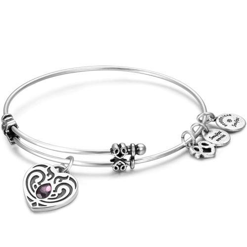 png royalty free February Birthstone Charm Bangle
