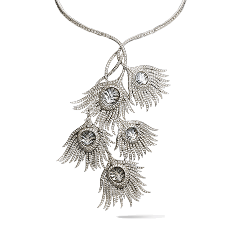 clipart free download White Peacock necklace
