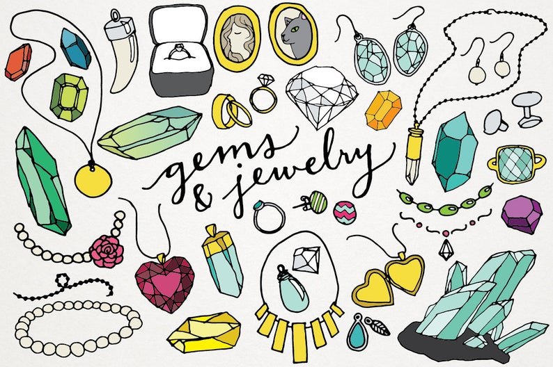 clip art royalty free library Jewelry clipart. Gems and logos jewels.