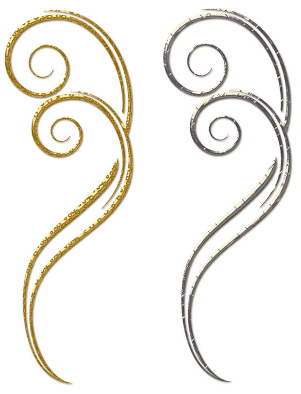 svg black and white Gold and silver clipart. Decorative ornaments png cards