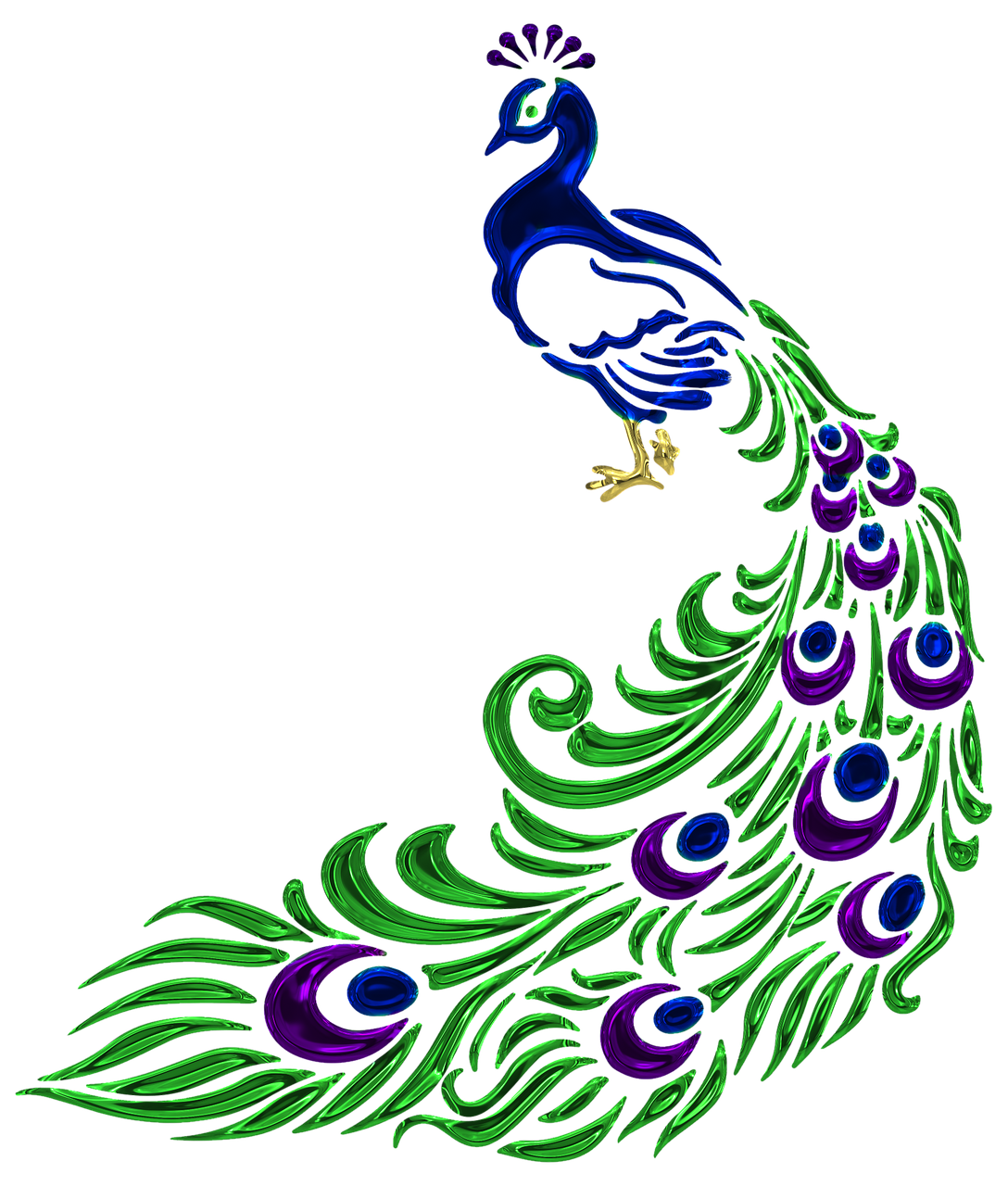 vector black and white Drawing peacocks hard. Free image on pixabay