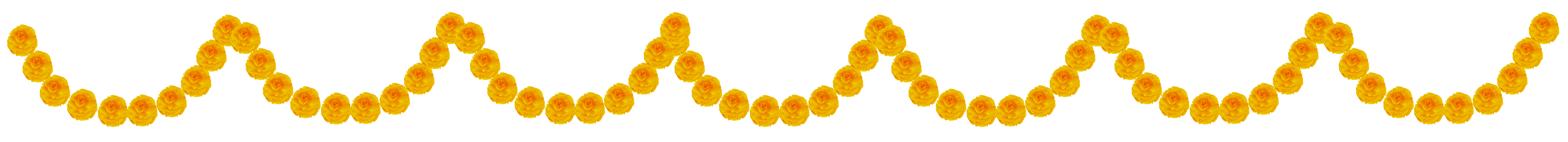 vector black and white library Flower Garland Transparent PNG Clip Art Image