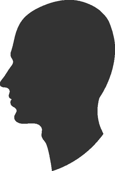 banner Head silhouette male clip. Beard clipart profile