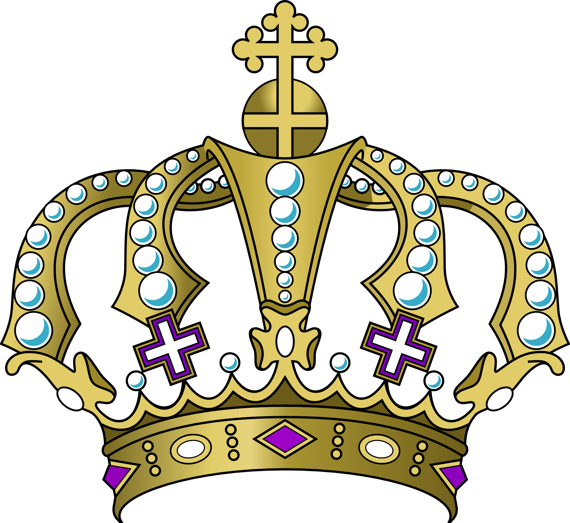 banner stock Of golden crown with. Jewels drawing