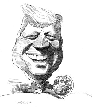 jpg free stock Jfk drawing. John f kennedy caricatures