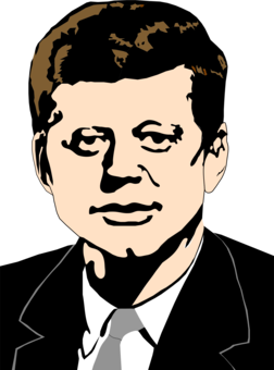 clipart download Jfk drawing side view. President of the united