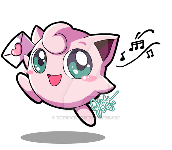 image black and white library JigglyPUFF loves you by NekoponArt on DeviantArt