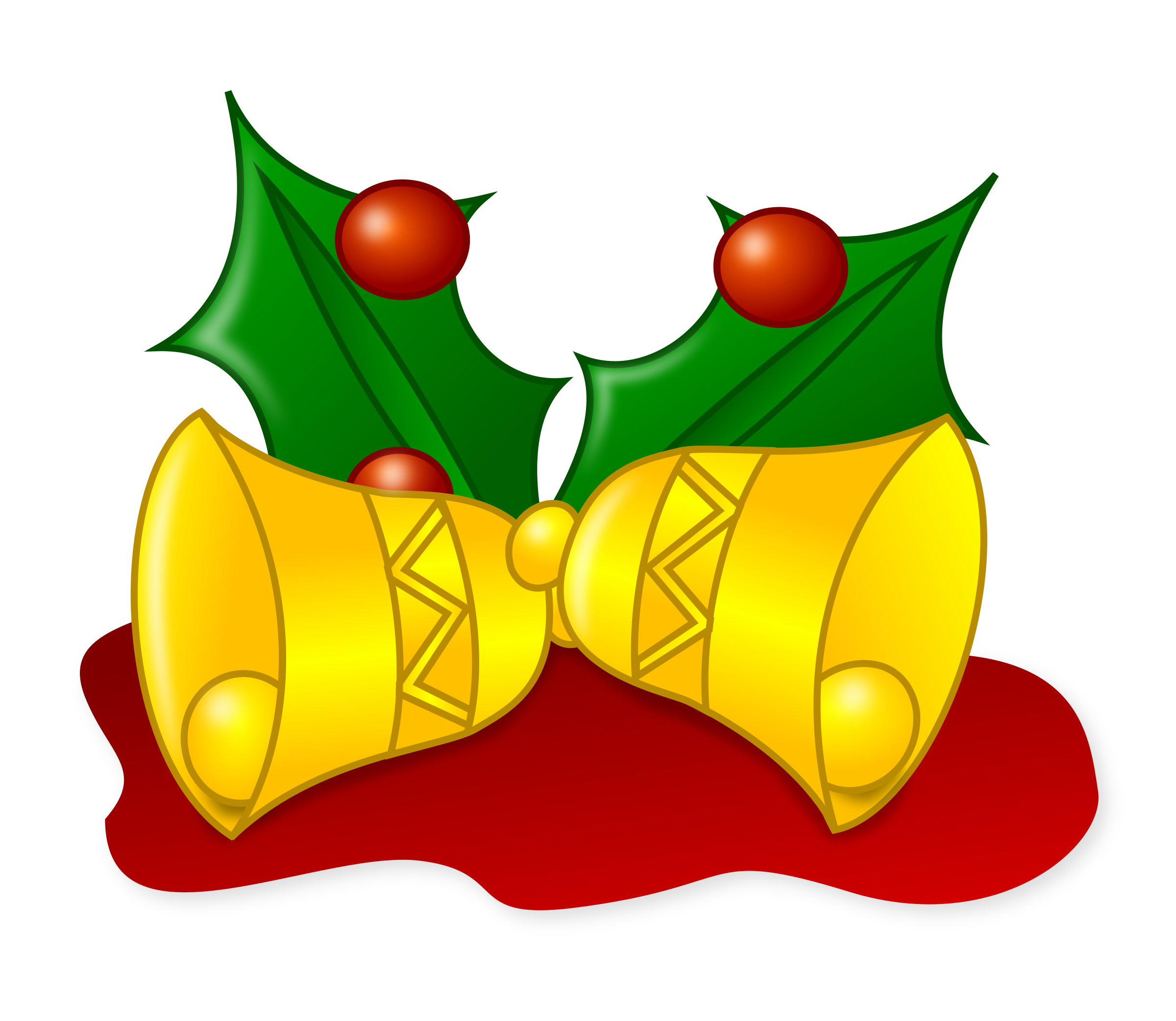 banner free stock Colored bells big image. Jingle clipart