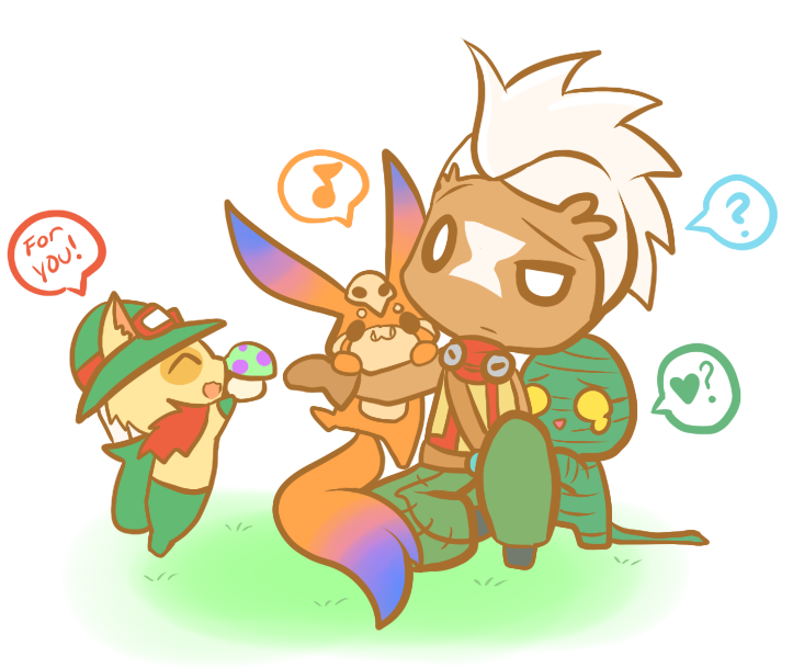 stock Yordles And Ekko by ChibiYouko on DeviantArt