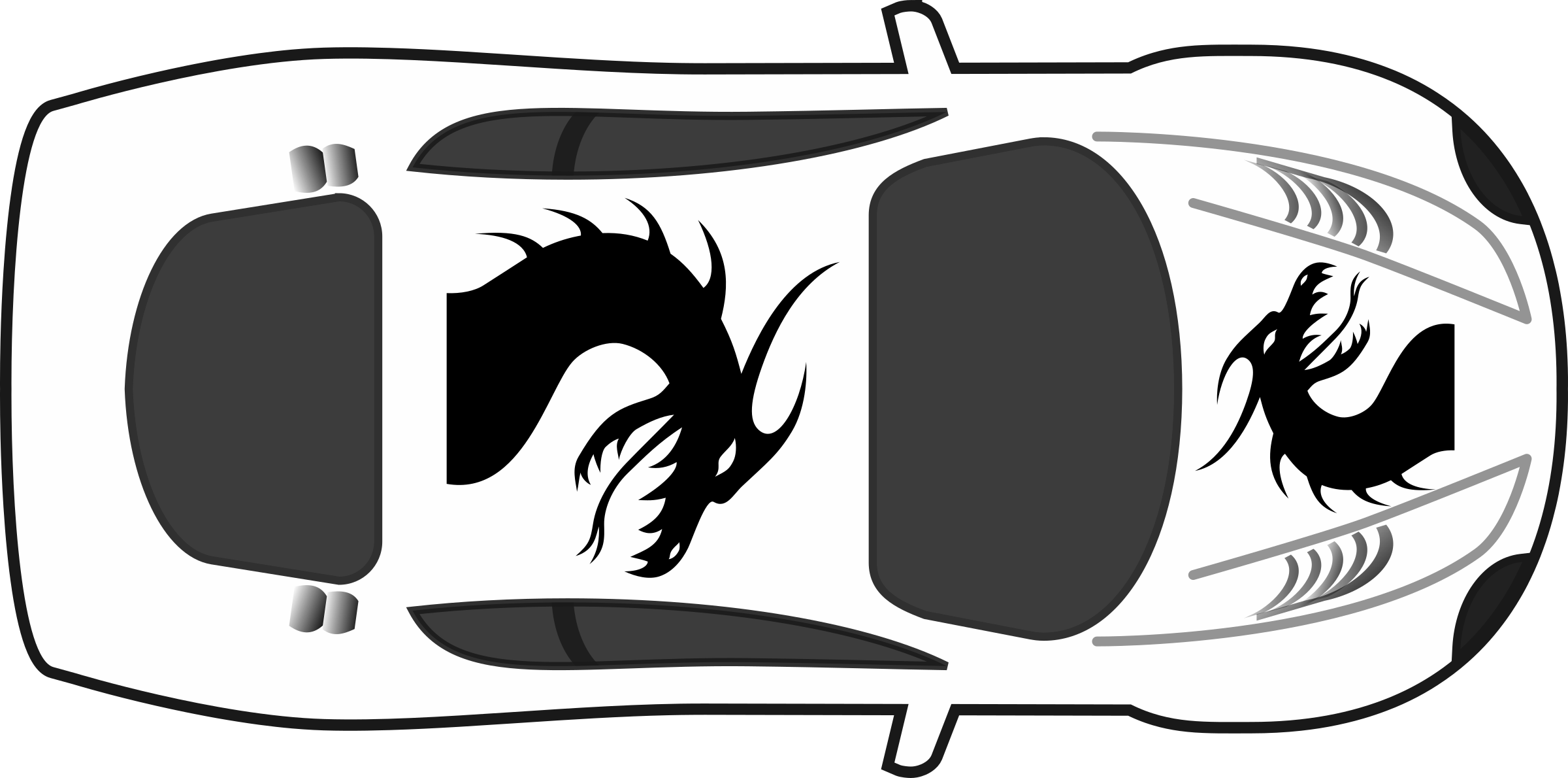 png transparent stock Dragon paint on car. Job clipart black and white
