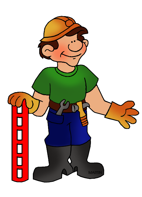 clip art freeuse Construction worker clipart. Occupations clip art by.