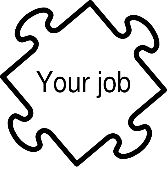 free stock Jigaw job clip art. Vector careers