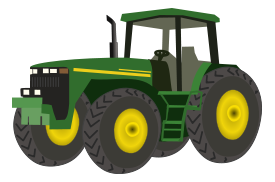 banner black and white library Download free tractor vectors. John deere clipart