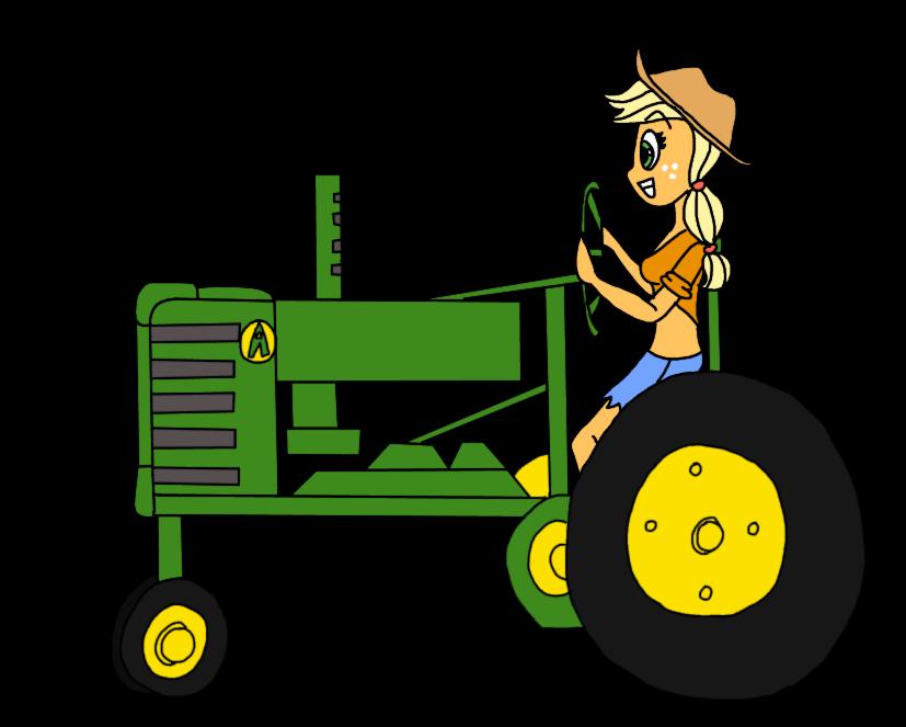 free stock Aj driving a tractor. John deere clipart.