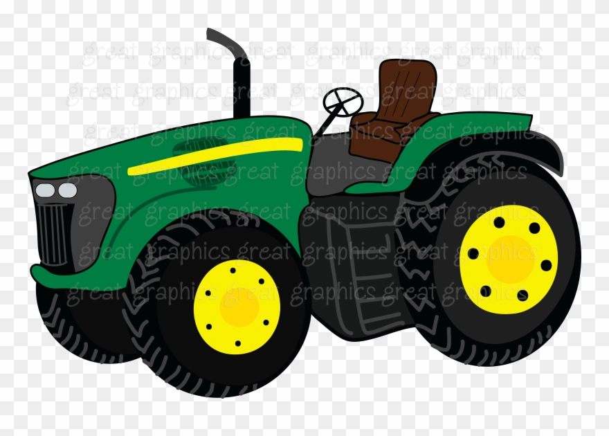 graphic library download John deere clipart hand. Tractor png download