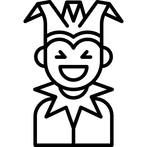 clip art library Joker clipart black and white. Icon