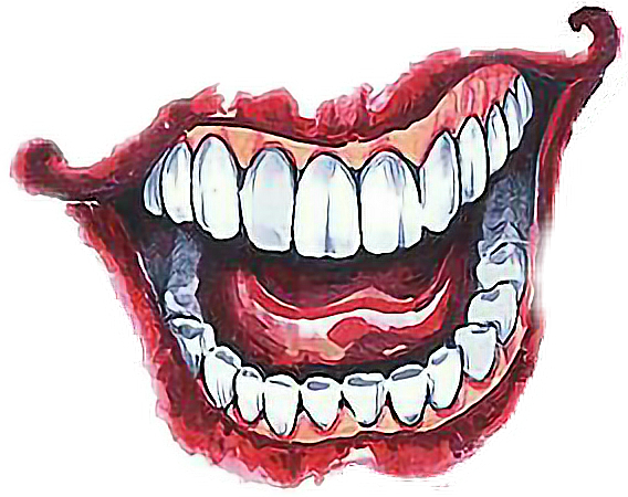 image free download Drawing tooth joker. Sticker by quantumfinanse