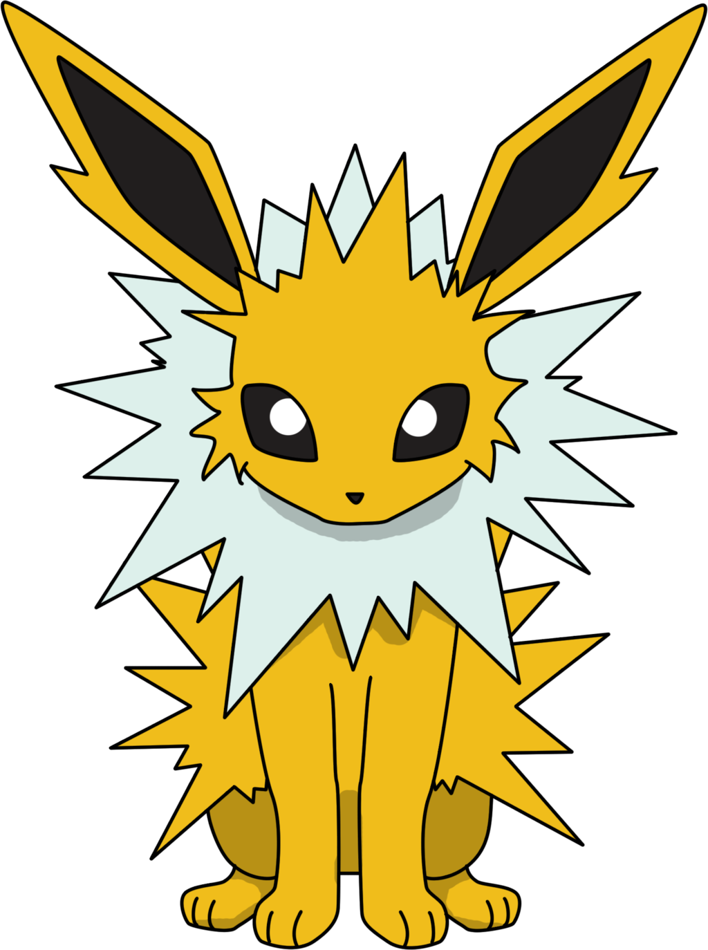 clip art transparent Is fast and powerful. Jolteon drawing base pokemon