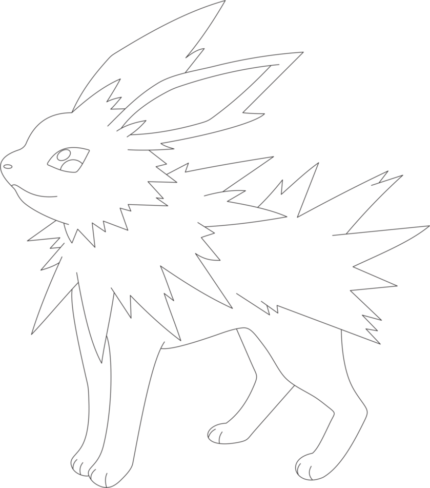 svg freeuse download Jolteon drawing base pokemon. Lineart of by inukawaiilover