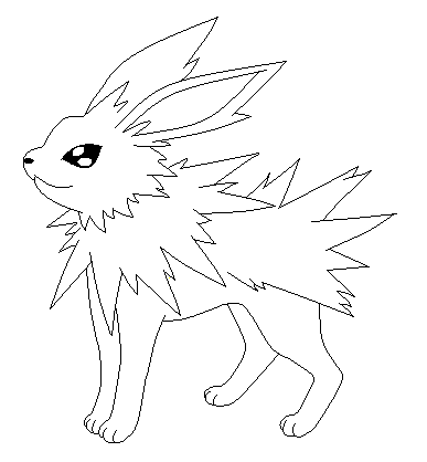 jpg transparent download  lineart for free. Jolteon drawing base pokemon